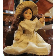 (20ᵉ century) rubber Dressed doll with hat