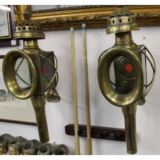 Copper (1900-1909) French Carriage Lanterns with pipe fitting