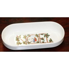 """(20ᵉ) Pottery Dish with decoration of Christmas """"NOEL"""""""