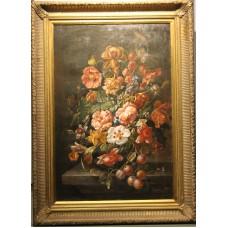 Painting. Dijk, Bastiaan van (20ᵉ century) Oil on canvas Still Life