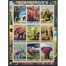 Elephant theme on 7 stockcards with 26 miniature sheets-strips