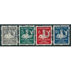 1929 Child welfare coilstamps NVPH R82 - R85