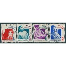 1931 Child welfare coilstamps NVPH R90 - R93