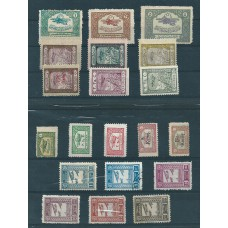 Turkey semi-postal stamps for airmail on 2 stockcards