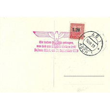 German occupation Asch Mi. 3 on picture postcard